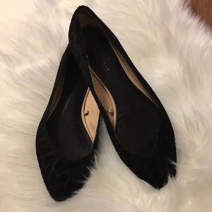 Zara Women Black Leopard Ballerina Flats